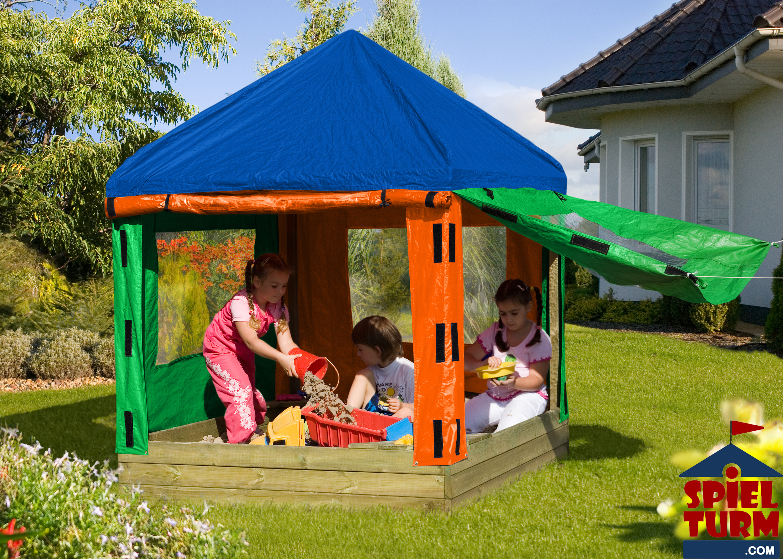kinderpavillon willi mit sandkasten ihr partner in sachen spielger te. Black Bedroom Furniture Sets. Home Design Ideas
